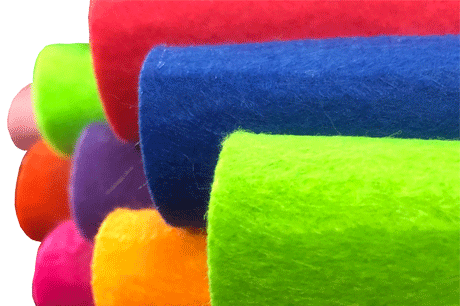 2mm Nonwoven needle punch fabric roll colorful factories polyester felt