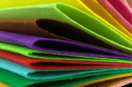 Yellow Color Felt Cloth 1mm Felt Fabric Polyester Felt Fabrics Needle