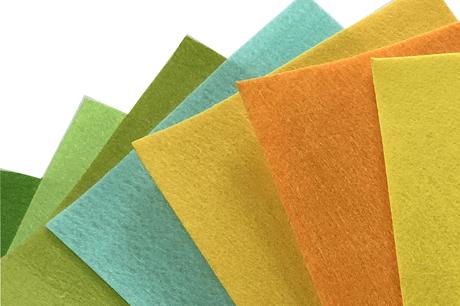 100% PET needle nonwoven fabrics rolls acrylic felt