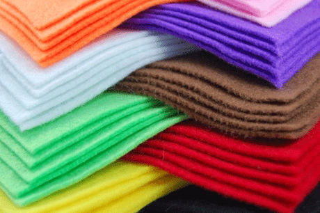100% polyester non woven fabric geotextile felt colorful factories needle punched roll