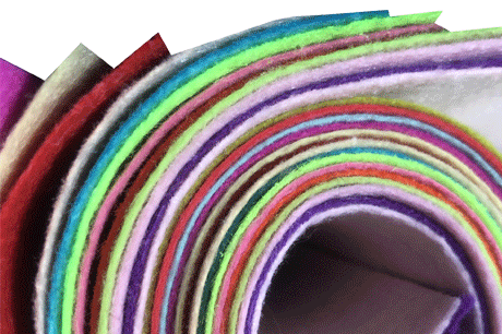 Color DIY with 100% polyester nonwoven fabric Cloth Felt Crafts DIY Material