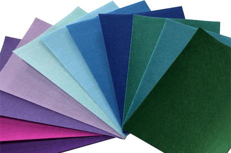 Polyester Color Felt Fabrics rolls Needle Punched 5mm acrylic felt Craft felt