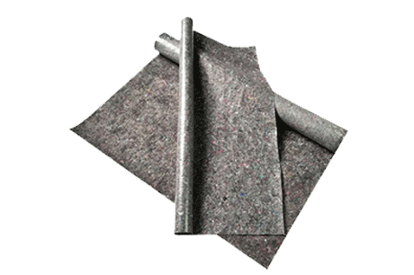 Anti-slip non woven mat wool carpet felt fabric